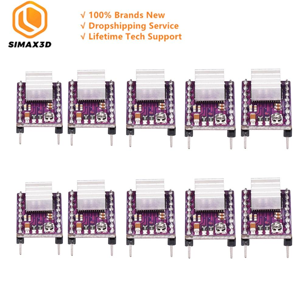 SIMAX3D 10pcs DRV8825 StepStick Stepper Motor Driver Module with Ramps 1 4 Reprap 4 PCB Board