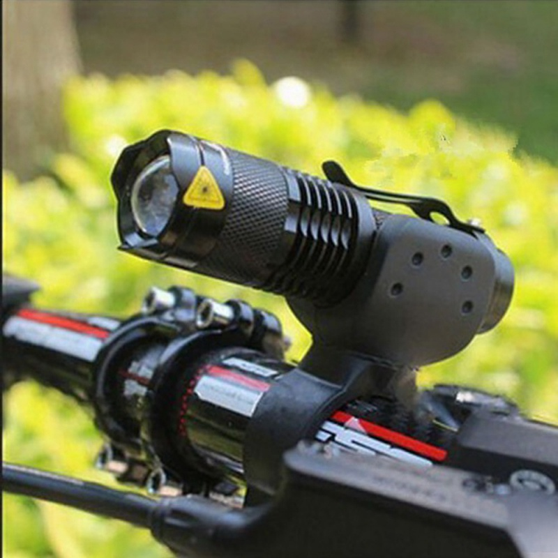 2000 Lumens Light 7 Watts 3 Mode Q5 Bicycle LED Flashlight Waterproof Light + Flashlight Bracket Bicycle Light Cycling Accessory