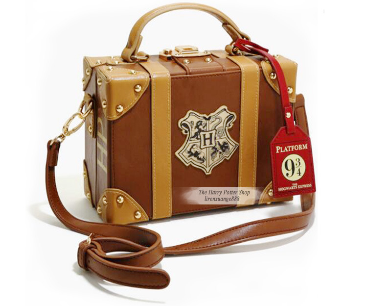 Harri Potter Magic School Badge PU Shoulder Bag Handbag HP Small Travel Bag Halloween Christmas Package Party Props Figure Toys