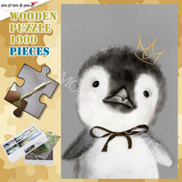 Cute Penguin Adults Puzzle Wooden 300 500 1000 Animal Jigsaw Puzzles DIY Assembling Puzzle Games Customized 1000 Pieces Puzzle