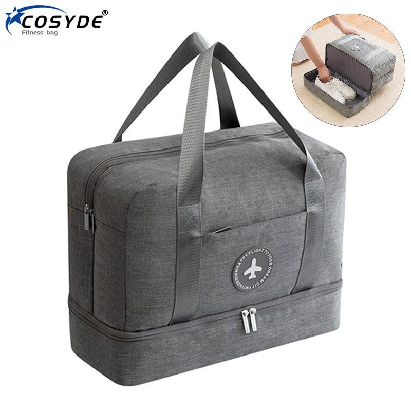 Wet Dry Gym Bag Nylon Men Sports Bag With Shoes Waterproof Women Hand Luggage Bag Training Handbags Traveling Sac De Sporttas