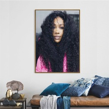 SZA Pop Music Star Singer Hip Hop Rap Art Painting Silk Canvas Poster Wall Home Decor