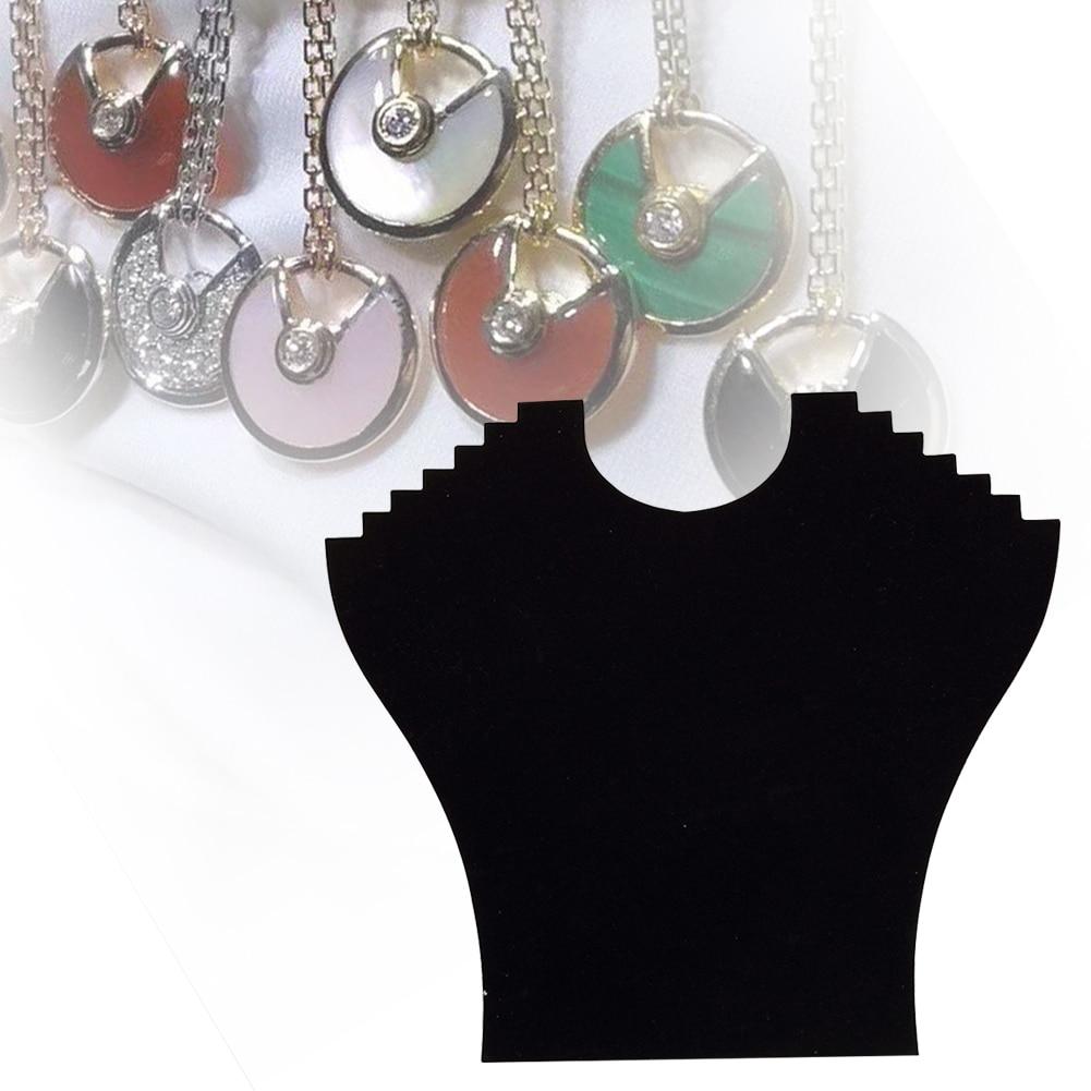 Necklace Display Stand Women Pendant Chain Bracelet Decorate Organizer Table Storage Rack Jewelry Holder Board Black Velvet Home