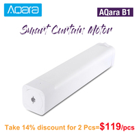 Original AQara B1 Wireless Smart Motorized Electric Curtain Motor 12cm/S WiFi/Voice/App Control Smart One Key Home Kits 3030mAh