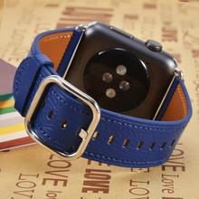 Natural Genuine leather loop band for Apple watch 42mm 38mm Women Men Sport strap for iwatch series 4 3 2 1 40mm 44mm Wrist band цена