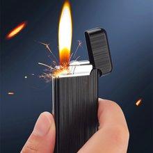 Ветрозащитная кремневая газовая зажигалка компактная бензиновая