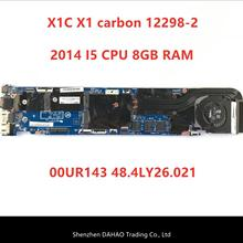 LMQ-1 MB 12298-2 48.4LY06.021 pour Lenovo ThinkPad X1C X1 carte mère en carbone i5 i5-4300 CPU 8GB 00UP979 100% testé OK