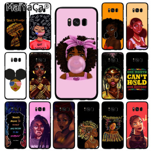 MaiYaCa 2bunz Melanin Poppin Aba Black Girl Phone Case for Samsung Galaxy S10 Plus S10E S6 S7 S8 S9 Plus S10lite(China)