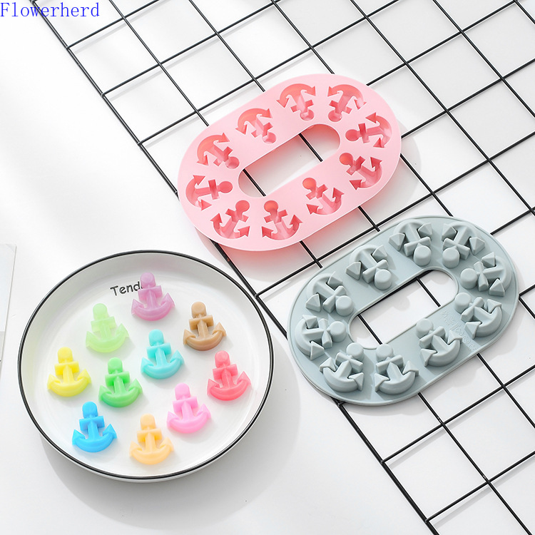 Anchor Chain Silicone Chocolate Candy Mold Cake Decorating Silicone Ice Tray Mold Crystal Epoxy Mould Handmade Soap Mold Baking