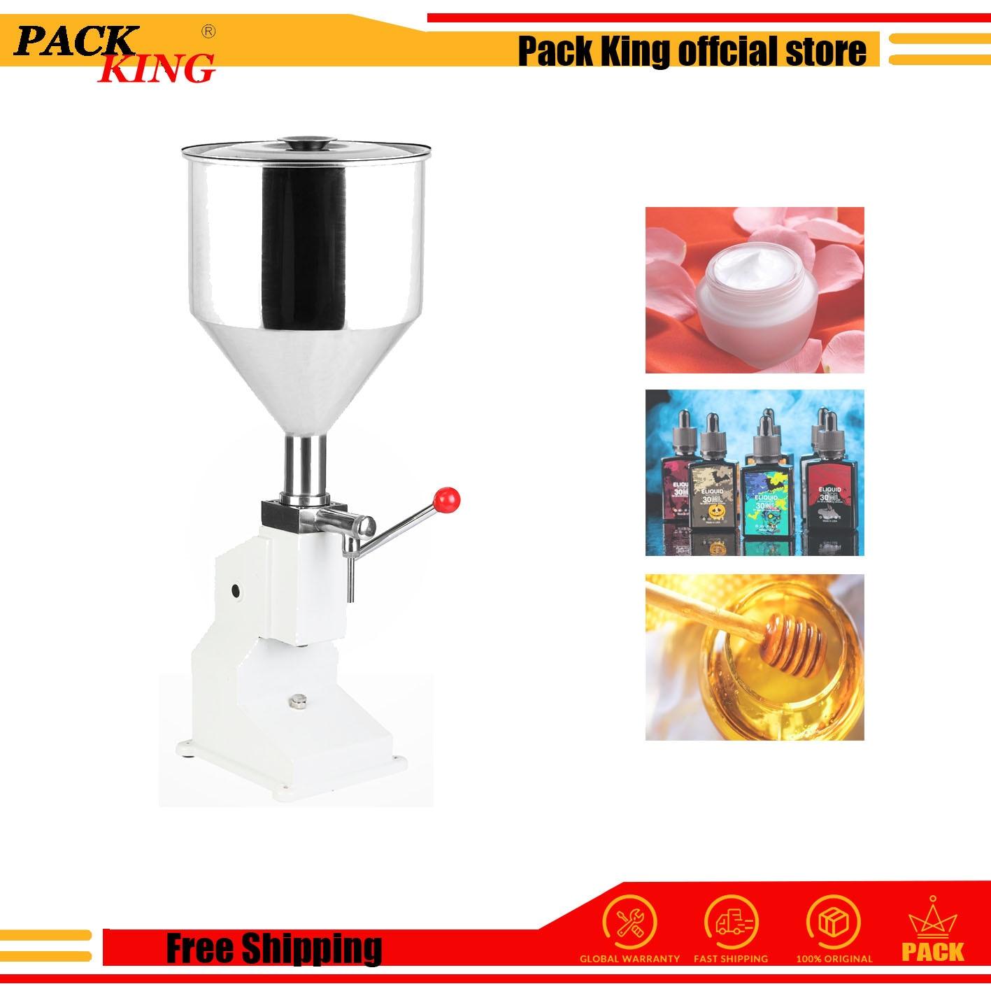 Manual Cream Honey Paste Filling Machine Shampoo Liquid Cosmetic Paste Oil Honey Drink Perfume Hand Press