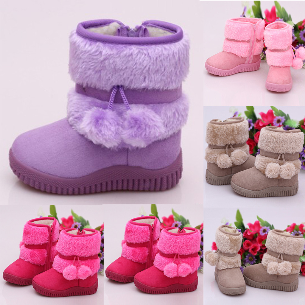 Toddler Kids Baby Shoes Children Boys Girls Solid Warm Outdoor Shoes Boots Children's Shoes Children's Boots Hot Selling