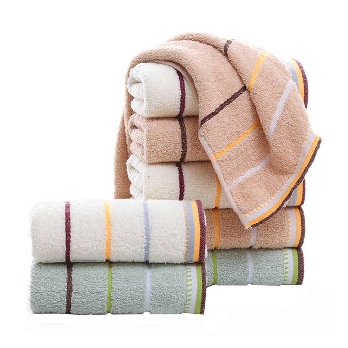 1X Dragonfly Water Absorbent Washing Bathing Shower Cotton Towel Washcloth