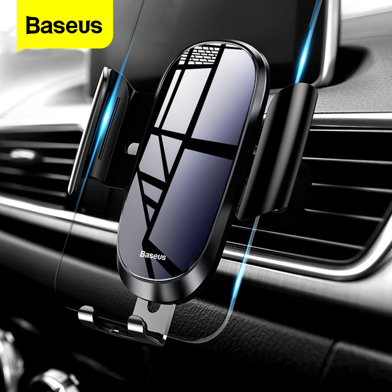 Baseus Car Phone Holder For iPhone X XS Max XR Samsung S10 S9 Gravity Air Vent Mount Holder For Phone in Car Mobile Holder Stand|Phone Holders & Stands| |  - title=