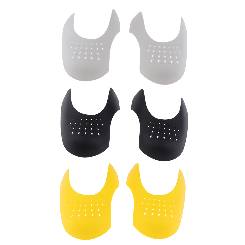 3 Pairs Sneaker Shields Protector, Durable Toe Box Force Fields Decreaser - Insert Anti Creases 14.5x8.5x3.5cm