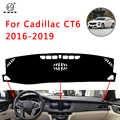 PNSL Auto Dashboard Cover Dash Mat Dash Pad Tapijt Voor Cadillac CT6 2016-2019 Zon bescherming anti-slip anti-uv