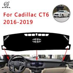 Pnsl Bảng Điều Khiển Trên Ô Tô Bao Dash Thảm Dash Miếng Lót Thảm Cho Cadillac CT6 2016-2019 Chống Nắng Chống Trơn Trượt chống Tia UV