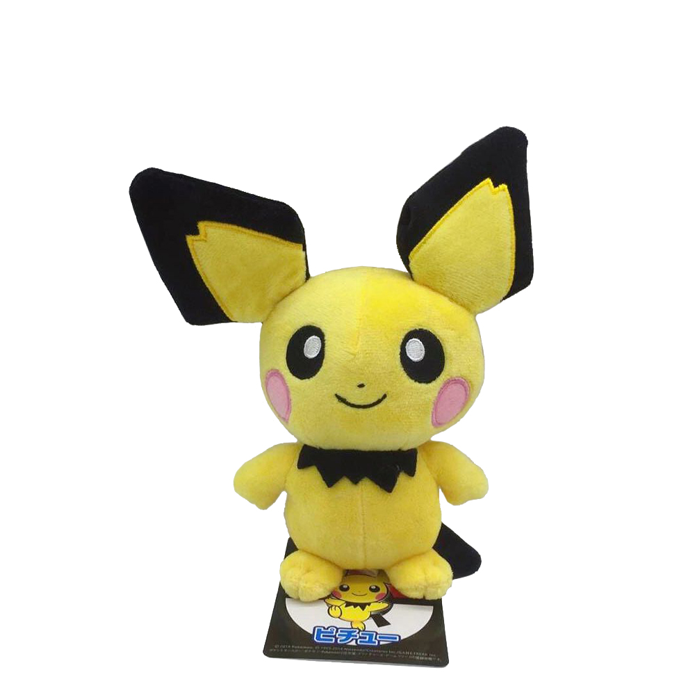 Pikachu Evolution Pichu Little Yellow Mouse Kawaii Plush Cute Toys For Children Gift Soft Japan Pikachu Kawaii Anime Doll
