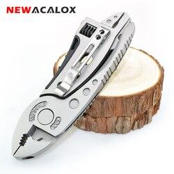 Многофункциональный инструмент NEWACALOX, плоскогубцы, карманный нож, отвертка, набор, регулируемый гайковерт, гаечный ключ для ремонта, ручные ...