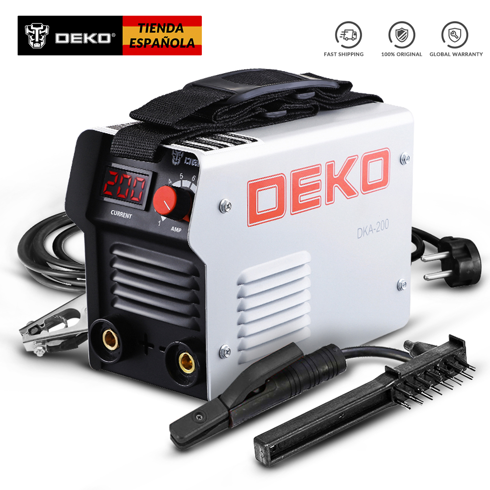 DEKO DKA160G 220V IGBT MMA Welding Machine DC Inverter ARC Welder  160 Amp For Home Beginner Lightweight Efficient Soldador