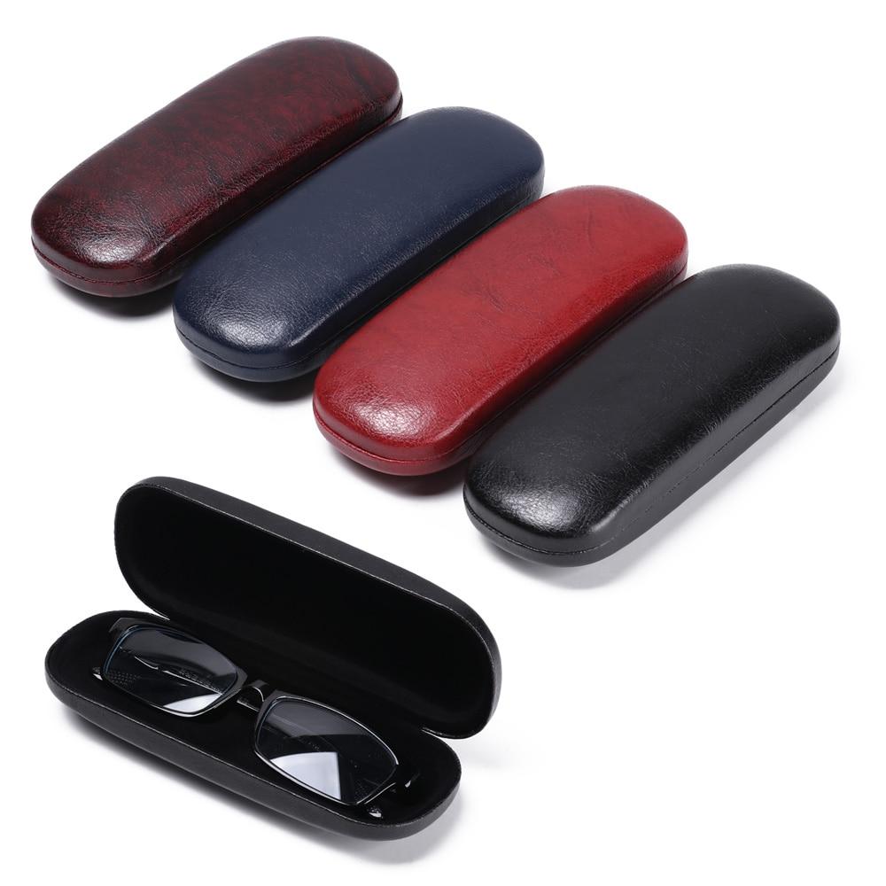 Чехол для очков из искусственной кожи, ящик для хранения солнцезащитных очков, переносной дорожный Жесткий Чехол для очков, защитный чехол для очков|Очки аксессуары|   | АлиЭкспресс