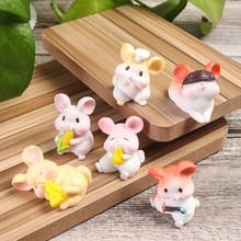 Desktop Ornament Mouse Figurine Gift Animal Statue Resin Crafts Miniature Rat Fairy Garden