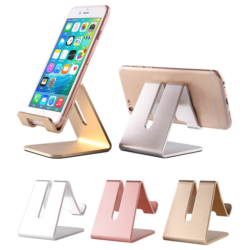 Phone Holder Cellphone Stand Aluminum Table Desk Mount Stand Holder For IPad Air 2 3 4 Tablet PC Universal For Mobile Phone