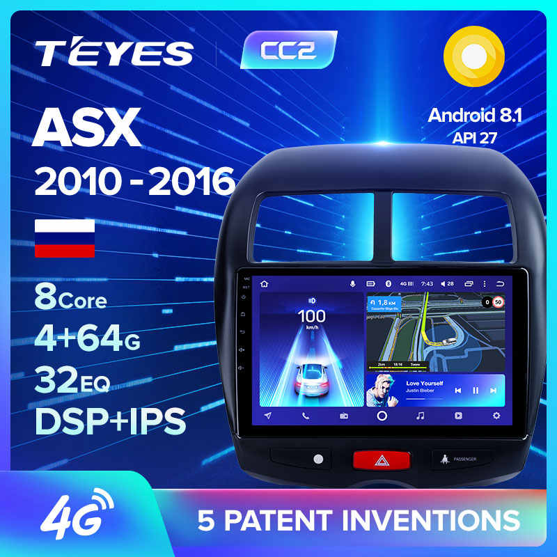 TEYES CC2 Per Mitsubishi ASX 1 C4 Peugeot 4008 Auto Radio Multimedia Video Player di Navigazione GPS Android 8.1 No 2din 2 din dvd
