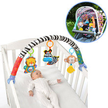 Baby Stroller/Bed/Crib Hanging Toys For Tots Cots rattles seat cute plush Stroller Mobile Gifts 88CM large Zebra Rattles