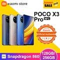 POCO X3 Pro глобальная версия 6 ГБ 128 ГБ/8 ГБ 256 Snapdragon 860 смартфон 120 Гц DotDisplay 5160 мА/ч, 33 Вт NFC четырехъядерный AI Камера