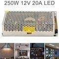 DC 12V 20A 250W алюминиевый сплав переключатель питания адаптер драйвера/источник трансформатора для светодиодных лент светильник/Промышленный/...