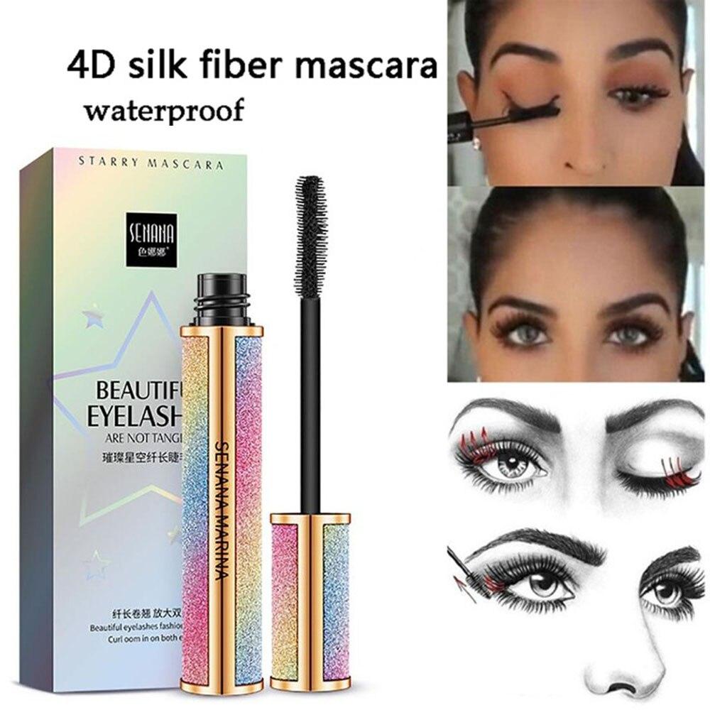 Vivid Galaxy Mascara 4D Silk Fiber Lashes Thick Lengthening Mascara Eye Eyelash Curling Waterproof Extension Eye Makeup