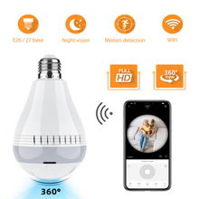 360 Led Light Wireless 1080P Panoramic FishEye IP Camera WiFi Bulb Lamp Home Security CCTV Camera Infrared Night Vision Camera