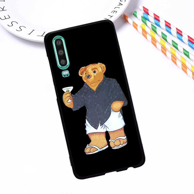 Gấu Ý Cao Cấp Gg Bao Bọc Điện Thoại Ốp Lưng Cho Huawei P40 P30 Pro P20 P10 P8 Lite 2017 Giao Phối 30 20 10 Lite Pro Ốp Lưng Silicon TPU