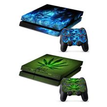лучшая цена Waterproof Game Console Sticker for Sony Playstation 4 Dustproof Vinyl Console 2 Controller Decal for PS4 Game Aaccessories