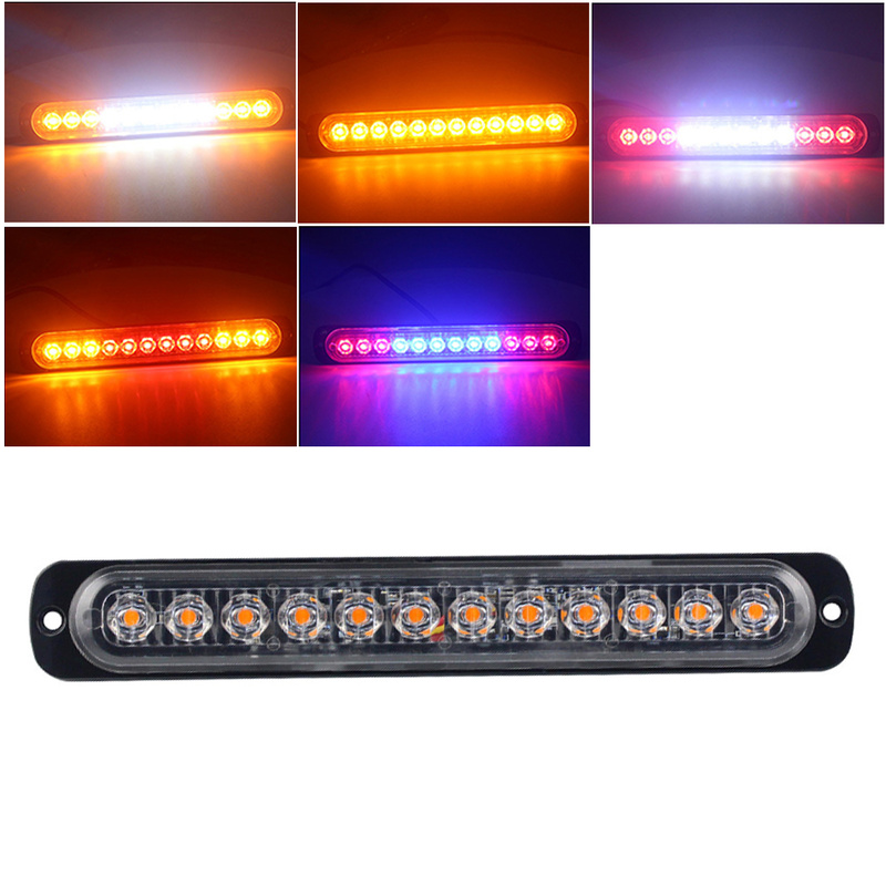 12 LED Amber Strobe Light Truck Hazard Beacon Flash Warn Emergency 12-24V Police Light New Car-Styling Car Accessories image
