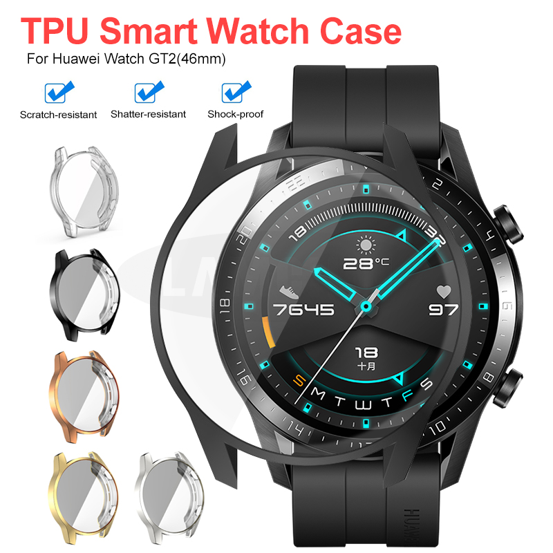 TPU Watch Protect Cover Case For Huawei Watch GT2 42mm 46mm Shell Protector Smart Watch Accessorie For Huawei GT 2
