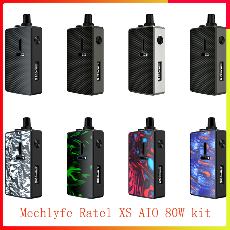 New Arrival Mechlyfe Ratel XS AIO 80W TC Rebuildable Pod Kit Powered By Single 18650 With 5.5ml Capacity Cartridge Vape Kit