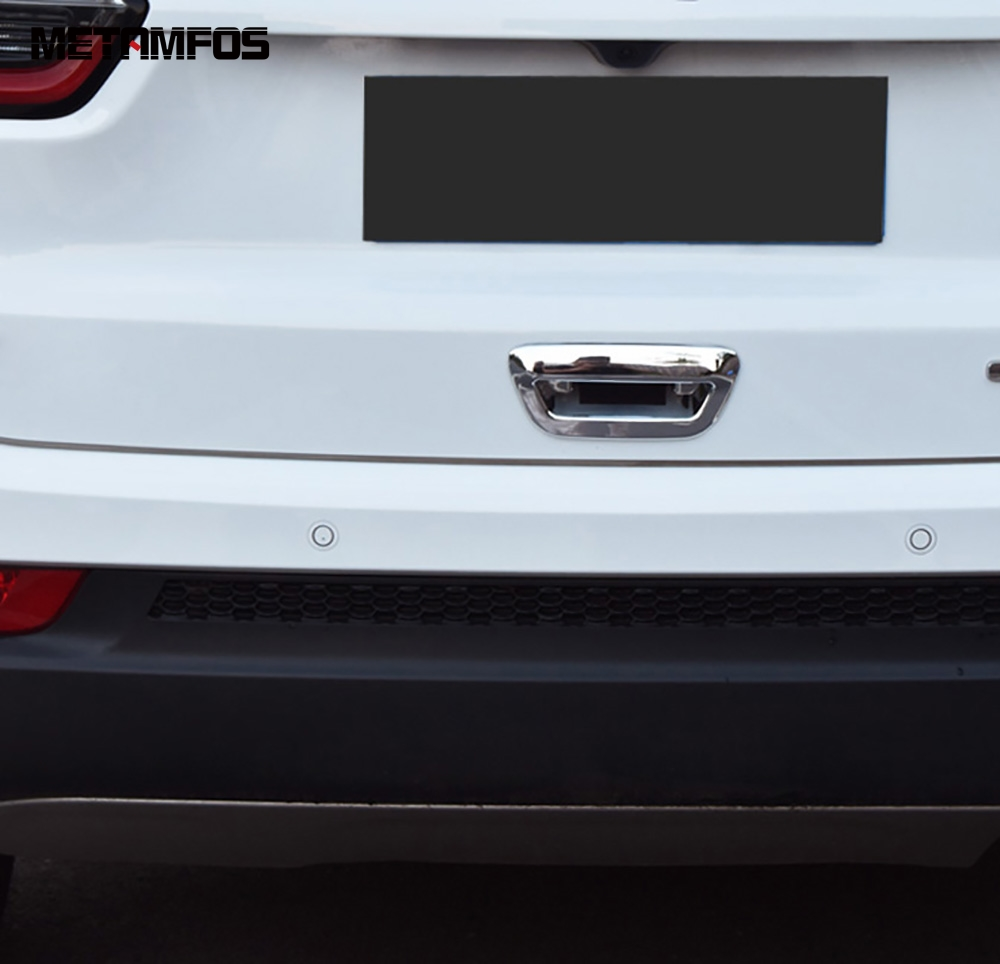 For <font><b>Jeep</b></font> <font><b>Compass</b></font> 2017 <font><b>2018</b></font> 2019 Chrome Rear Trunk Tail Door Handle Bowl Cover Molding Trim Decoration Exterior Car <font><b>Accessories</b></font> image