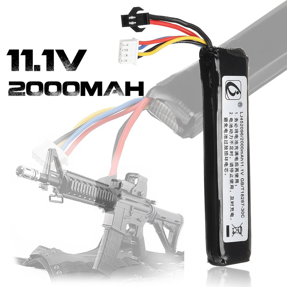 2000mAh 11.1V Lithium Battery For JinMing 8th Gel Ball Toy Gun Blaster