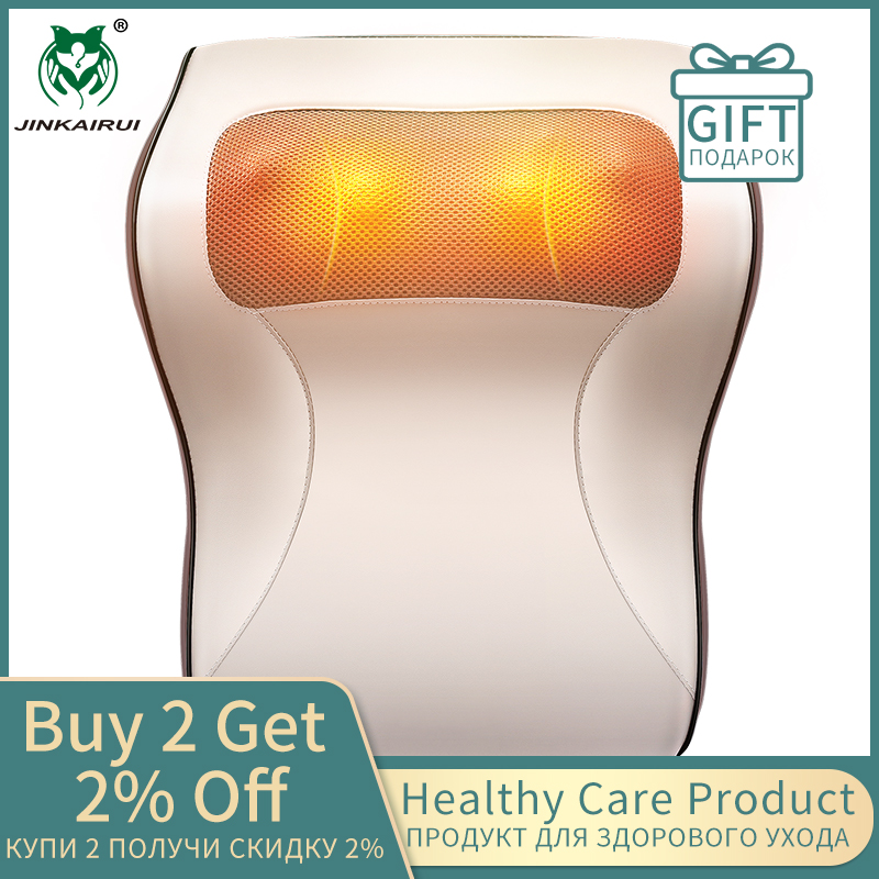 Upgrade Newest Sale Kneading Cervical Massager Pillow Neck Shoulder Waist Full-body Car Home Duel-use Gift Large Massager Pillow