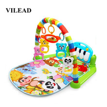 Baby Play Mat 0-18 Months Music Fitness Rack Newborn Pedal Piano Children'S Educational Toy Baby Play Mat Mate Foam Foldable Gym все цены