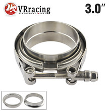 "VR RACING - 3"" SUS 304 Steel Stainless Exhaust V Band Clamp Flange Kit QUICK RELEASE CLAMP Male Female FLANGE OR NORMAL TYPE(China)"