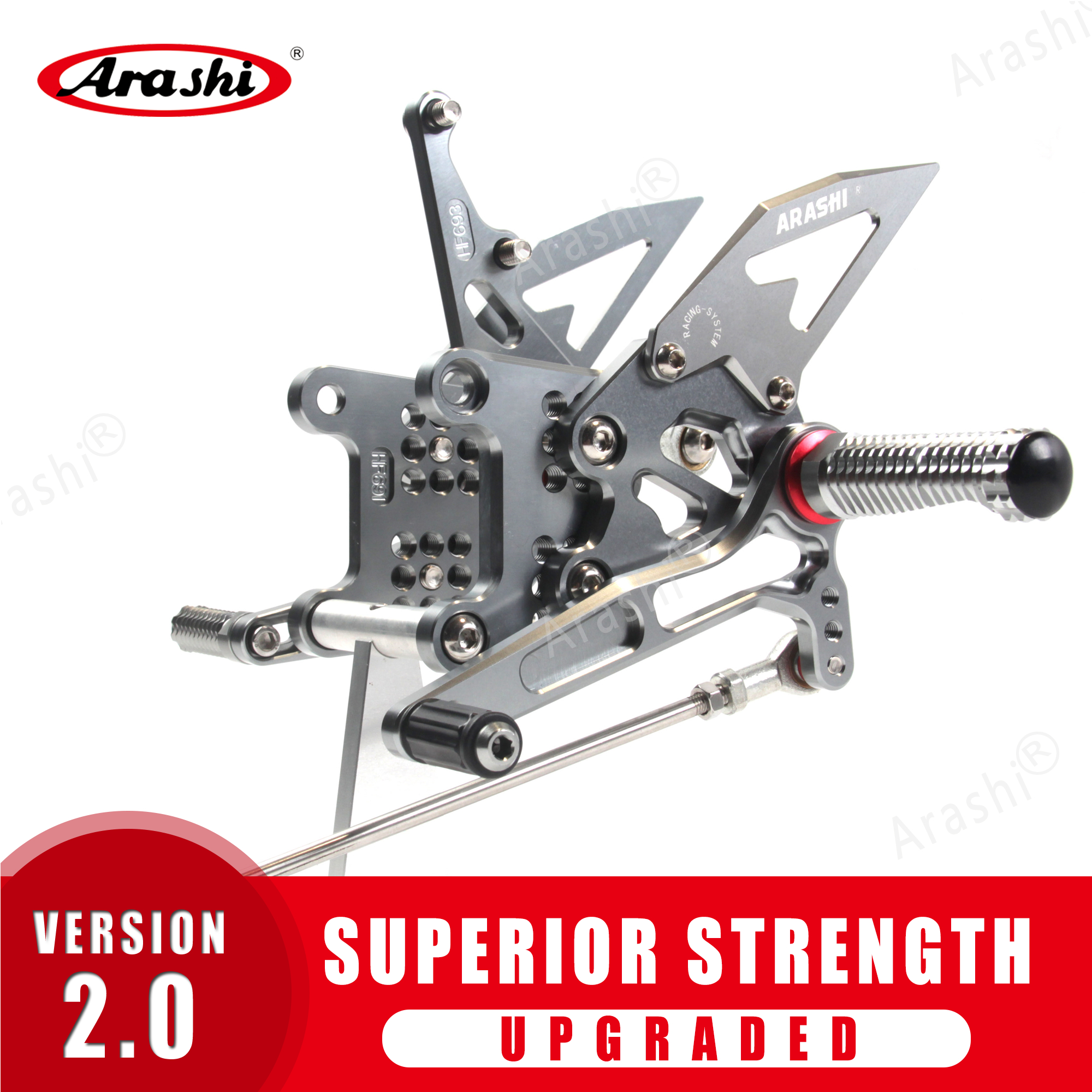 Arashi For TRIUMPH Speed Triple 1050 2005 - 2010 CNC Adjustable Footrests Rider Foot Pegs Rearset Rest 2006 2007 2008 2009