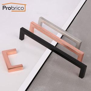 Image 1 - Probrico Matte Black Cabinet knobs and handles Rose gold Cupboard Wardrobe Drawer Closet Pulls Minimalist Furniture Handle Pulls