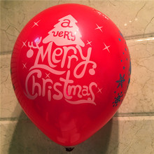 цена на Christmas Balloons 100pcs Wholesale Snow Christmas Tree Printed Balloons Christmas Decoration Balloon Kids Toy Air Balls Globos