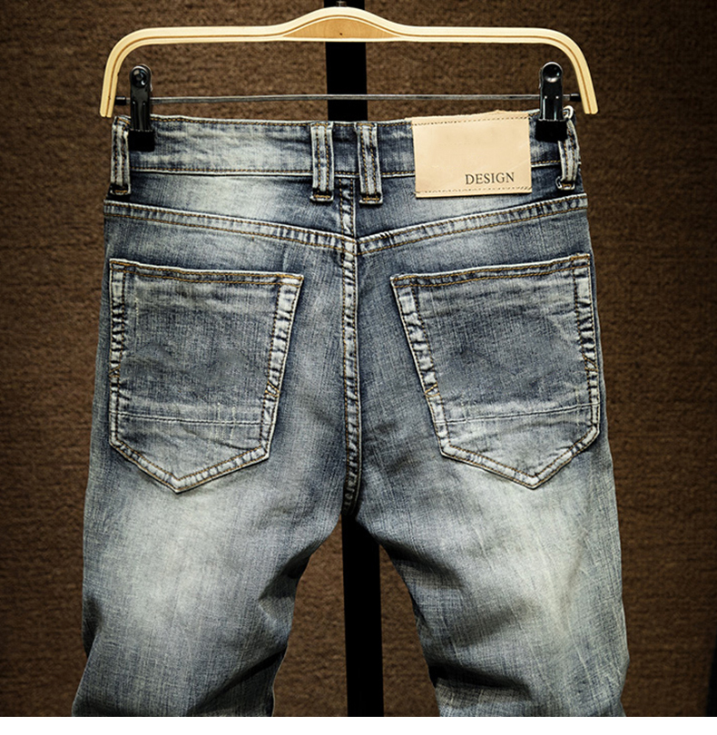 KSTUN Slim Jeans Men Light Blue Stretch 2020 Spring and Autumn Denim Jeans Pants Male Casual Mens Clothing Jeans High Quality Dropship 14