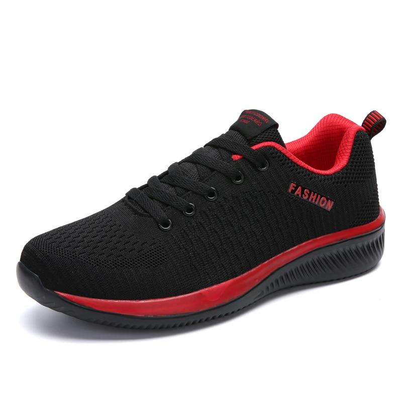 2020 Shoes Men Sneakers Breathable Men Shoes Casual Mesh Men Lace-up Comfortable Lightweight Fashion Walk Unisex Big Size 35-47