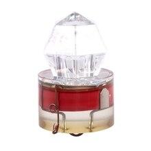 Промо-акция! Глубинный светодиодный светильник для подводной ловли кальмаров, приманки, алмазные лампы с глубоким падением, основной цвет: красный