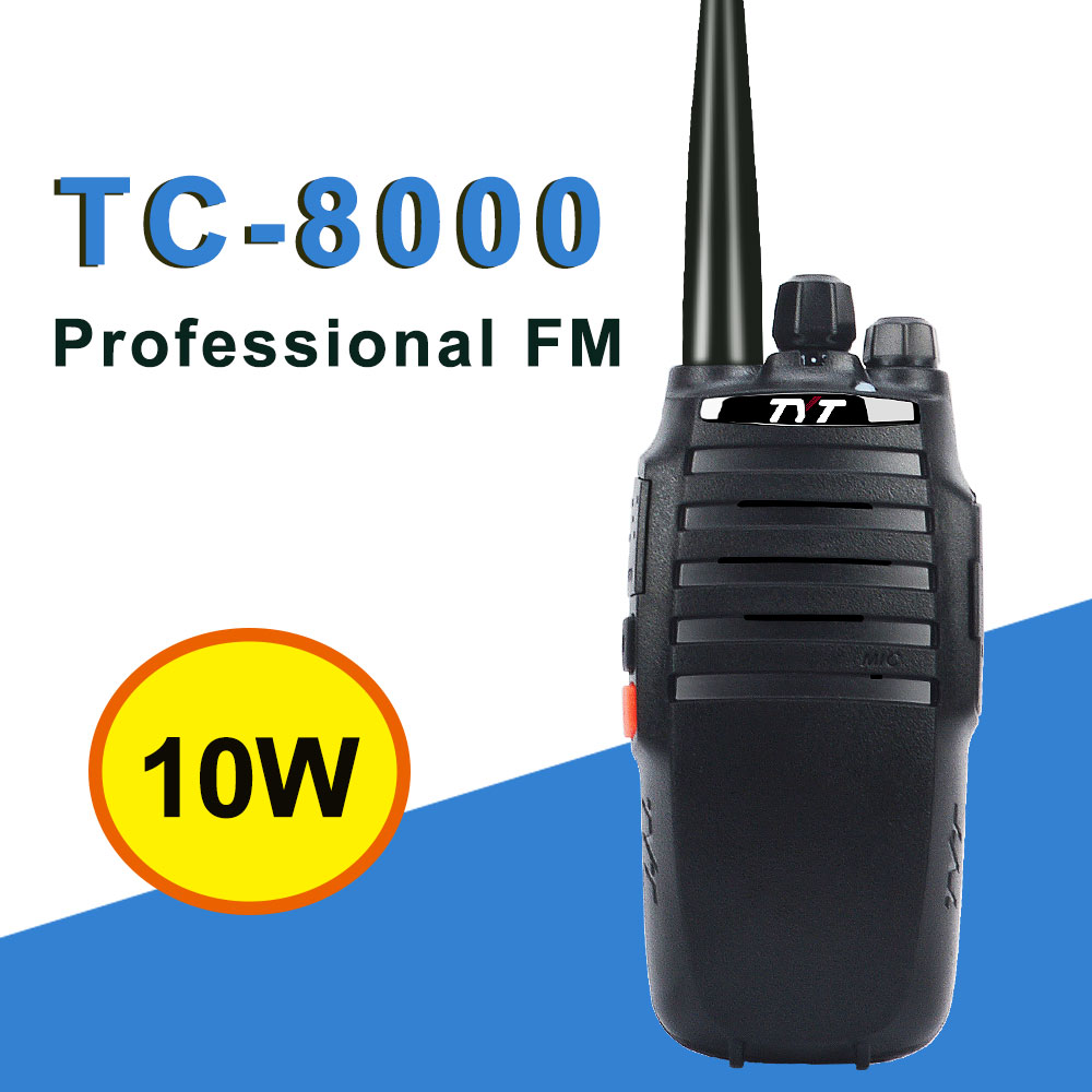 10W Walkie Talkie TYT TC-8000 Scrambler 3600mAh 10km Portable Two Way Radio Single Band VHF 134-174 Or UHF 400-520MHz