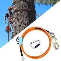 1/2 Inch x 8 Inch Steel Wire Core Flip Line Kit Climbing Positioning Rope for Arborists Climbers Tree Climbers